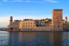 Frankrike Marseilles, 17th århundradefort Helgon-Jean Royaltyfri Foto