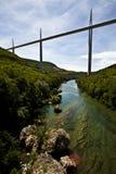 Frankrike A75 Motorway royaltyfria bilder
