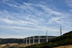 Frankrike A75 Motorway royaltyfri fotografi