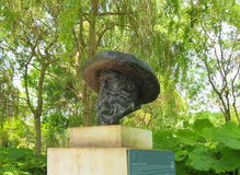 Frankrike Normandie/Giverny: Claude Monet Sculpture Royaltyfri Foto