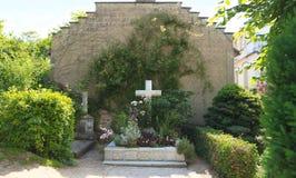Frankrike Normandie/Giverny: Familjgrav av Claude Monet Arkivfoton