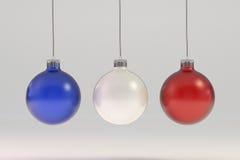Frankrike och USA-julflagga Arkivfoton
