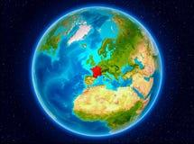 Frankrike på jord Arkivbild