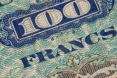 Frankrike pappers- pengar arkivfoto