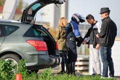 Frankrike Paris anfaller - gränsa bevakning med Tyskland Arkivbild