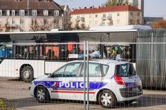 Frankrike Paris anfaller - gränsa bevakning med Tyskland Royaltyfria Bilder