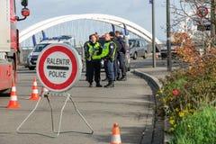 Frankrike Paris anfaller - gränsa bevakning med Tyskland Royaltyfri Foto