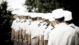 Frankrike Paris - 14 juli 2011 Legionnairesstand i linje för starten av ståta på Champset-Elysees Arkivbild