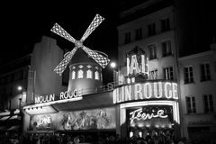 Frankrike Paris, moulinrouge Fotografering för Bildbyråer