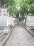 Frankrike Paris, Pere Lachaise Cemetery Fotografering för Bildbyråer