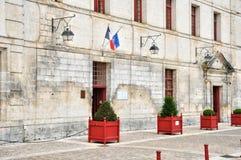 Frankrike pittoresk stad av Brantome Arkivfoto