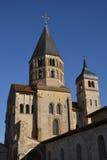 Frankrike pittoresk stad av Cluny i Saone och Loire Arkivbild