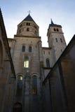 Frankrike pittoresk stad av Cluny i Saone och Loire Fotografering för Bildbyråer