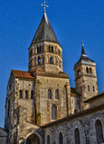 Frankrike pittoresk stad av Cluny i Saone och Loire Royaltyfria Foton