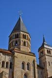 Frankrike pittoresk stad av Cluny i Saone och Loire Royaltyfri Bild