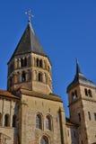 Frankrike pittoresk stad av Cluny i Saone och Loire Arkivfoton