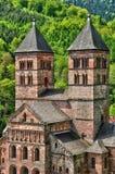 Frankrike roman abbotskloster av Murbach i Alsace Arkivfoto