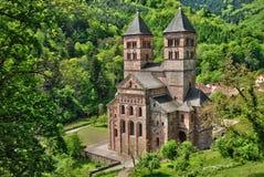 Frankrike roman abbotskloster av Murbach i Alsace Royaltyfria Foton