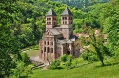 Frankrike roman abbotskloster av Murbach i Alsace Royaltyfri Bild