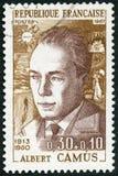 FRANKRIKE - 1967: shower Albert Camus 1913-1960 Royaltyfri Bild