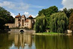 Frankrike slott i Champagneregion Arkivbilder