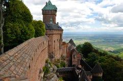 Frankrike slott i den burgundy regionen Royaltyfria Bilder