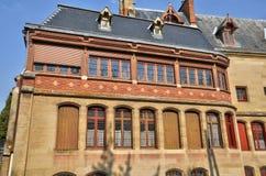 Frankrike staden av Poissy Arkivbilder