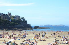 Frankrike strand Arkivbild