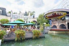 Frankrike themed område - Europa parkerar i rost, Tyskland Royaltyfri Bild