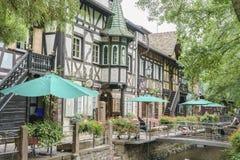 Frankrike themed område - Europa parkerar i rost, Tyskland Arkivfoto