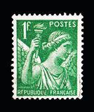 Frankrike visar irins, serie, circa 1939 Royaltyfri Fotografi