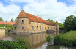 Frankrike Yvelines: Slott - Château de Villiers-le-Mahieu Royaltyfria Foton