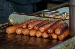 Free Franks On The Griddle Stock Image - 9962801