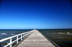Frankston Beach Bridge Stock Image