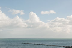 Frankston pier and clouds Stock Photo