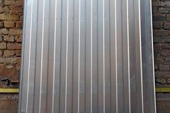 Franment рифлёного металлического листа стоковые фотографии rf