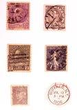 Franqueo 2 de la vendimia imagen de archivo libre de regalías