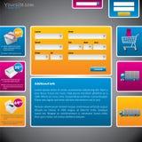 Franqueo y modelo del Web site del transporte stock de ilustración