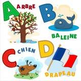 Frans alfabetdeel 1 royalty-vrije illustratie