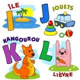 Frans alfabetdeel 3 stock illustratie