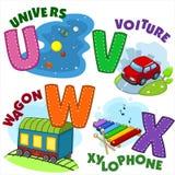 Frans alfabetdeel 6 stock illustratie