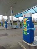 Frans benzinestation zonder brandstof stock fotografie
