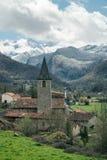Frans bergdorp royalty-vrije stock foto's