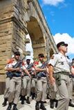 Frans Buitenlands Legioen. Pont du Gard Stock Foto's