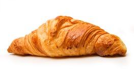 Frans croissant op witte achtergrond royalty-vrije stock foto