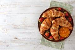 Frans croissant voor ontbijt royalty-vrije stock fotografie