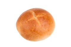 Frans die broodje op witte achtergrond wordt geïsoleerd Stock Fotografie
