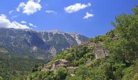Frans dorp, in de Provence. Frankrijk Stock Fotografie