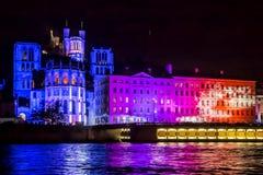 Frans festival van licht in Lyon, royalty-vrije stock foto