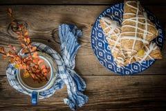Frans gebakje met pudding stock fotografie